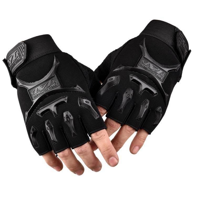 戰術手套 手套男春夏透氣戰術防滑露指學生薄款半截戶外運動騎行半指手套男 99購物節