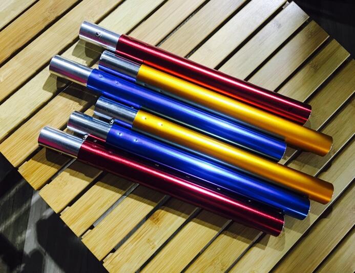 《愛露愛玩》【6061鋁合金】30公分營柱  有金、紅、藍三色  節插式調整高度的好物!!