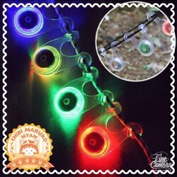 《現貨供應》青蛙燈///營繩燈///LED///自行車照明///附鈕釦型2032電池12顆