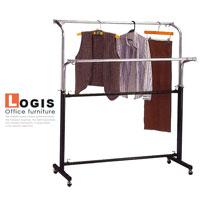 LOGIS邏爵~雙桿式吊衣架居家必備~吊衣桿~吊衣櫃~ 鋼製不軟腳超堅固 121D