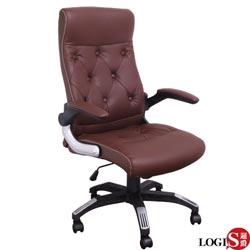 促銷下殺!!LOGIS邏爵-威爾斯皮面彈簧坐墊主管椅/辦公椅/電腦椅DIY-2652