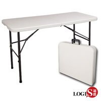 邏爵LOGIS-生活多用122CM萬用摺疊桌/野餐桌/展示桌/會議桌ZK-122E