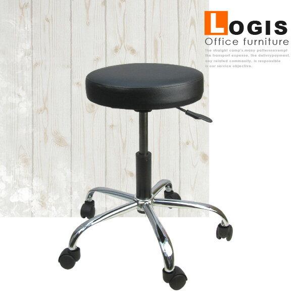 ^~邏爵^~325工作皮面椅 氣壓升降 吧檯椅 洽談椅 休閒椅 ^(黑色^)