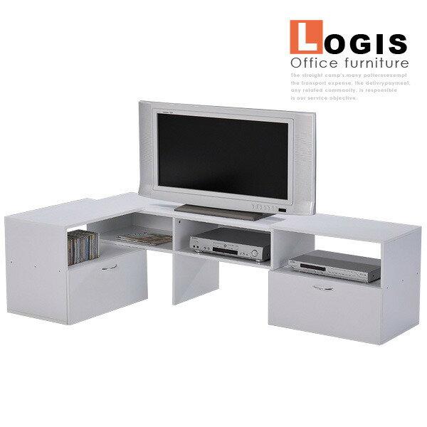 邏爵* LS-11組合伸縮電視櫃 高低櫃 層架 收納 *可變換* 多樣組合 DIY 台灣製造!! 二色