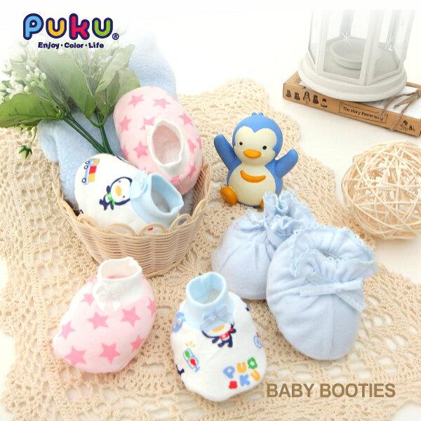『121婦嬰用品館』PUKU 夏日純棉印花腳套 0-12M(藍) 1