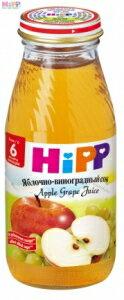 德國【HIPP 天然寶寶】天然果汁系列 -蘋果葡萄汁 (200ml*6入裝) - 限時優惠好康折扣