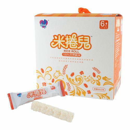 Enai 米捲兒 純天然嬰兒米餅(20枚/盒)期限:2018.11.07★衛立兒生活館★