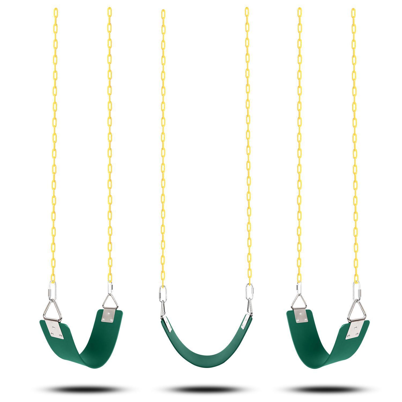 Jungle Gym Swing Seat Heavy Duty Iron Chain Playground Swing Set 4