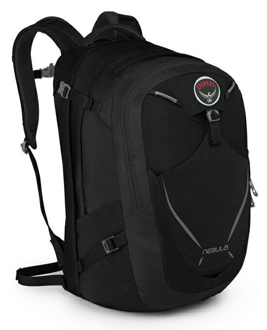 Osprey  美國  NEBULA 34 電腦背包《男款》/15吋筆電背包 城市背包 旅行背包 -黑/Nebula34 【容量34L】