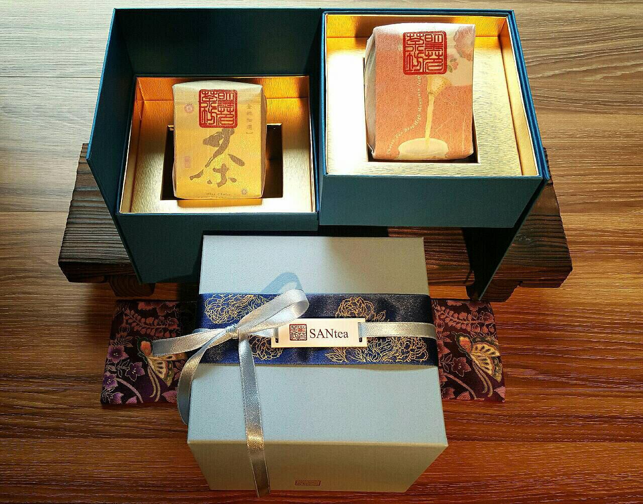 <br/><br/>  台灣鹿谷20年老茶半斤(300g)+獨家設計純手工茶葉精緻禮盒*1<br/><br/>