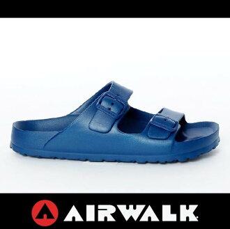 萬特戶外運動-AIRWALK A535220180 美國運動流行 台灣製造 雙扣環拖鞋 EVA 運動拖鞋 勃肯鞋款BIRKENSTOCK 深藍色