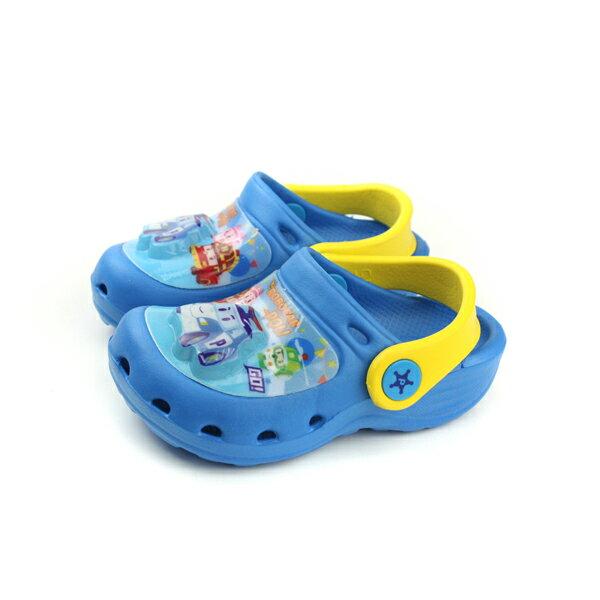 POLI 波力 救援小英雄 ROBOCAR 涼鞋 布希鞋 藍色 中童 POKS71056 no608
