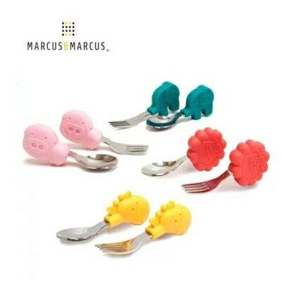 加拿大 MARCUS&MARCUS 動物樂園寶寶手握訓練叉匙-4款 0