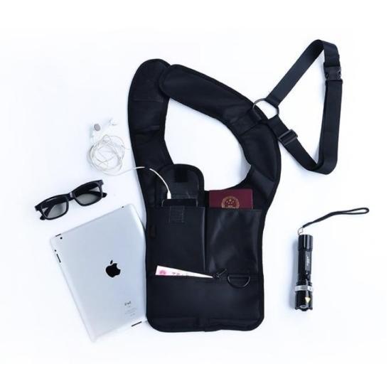 ORG《SG0040》第三代 隱藏式 腋下雙肩包 防盜包 腰包 特工包 隱形背包 背包 運動 側背包 大容量 收納包 8