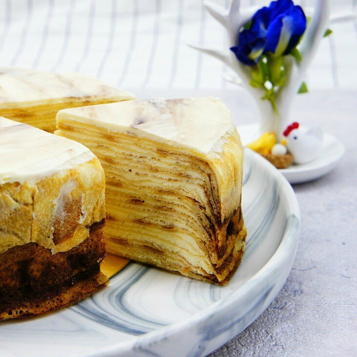 【蕉研食嚥室】鮮奶太妃糖千層蛋糕6吋甜點蛋糕