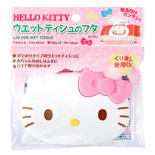 LEC Sanrio Hello Kitty 重複黏濕紙巾用盒蓋 *夏日 *
