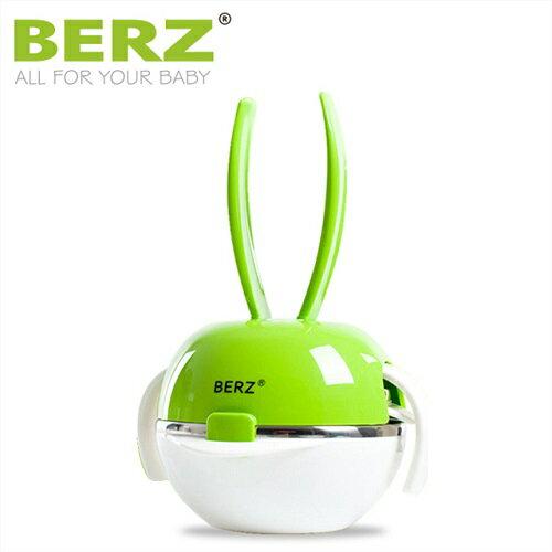 英國【BERZ】貝氏 彩虹兔五合一餐具組 (蘋果綠)