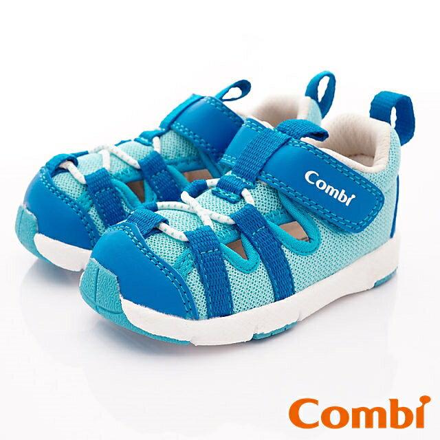 日本Combi童鞋 太空漫步幼兒機能涼鞋-慧星藍(寶寶段)