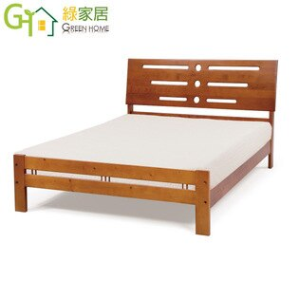 【綠家居】高可曼時尚5尺實木雙人床台(不含床墊)