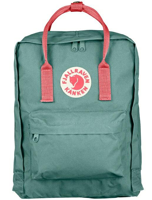 Fjallraven 瑞典北極狐 Kanken Classic 瑞典書包/空肯包/方型後背包 23510 664-319 霜綠/桃粉紅