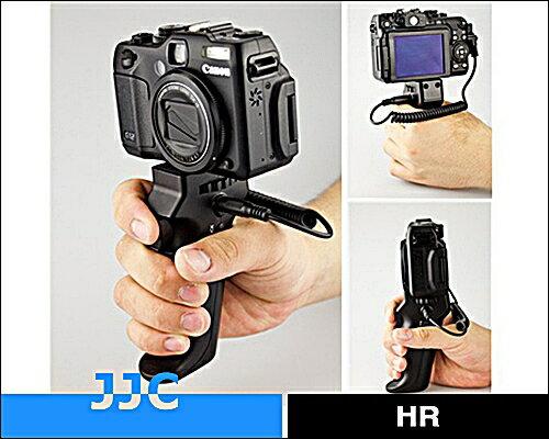 又敗家@JJC槍把握把手快門線手把遙控器HR+Cable-C(可換線設計for不同品牌相機身)相容Canon快門線RS-60E3快門線遙控器適佳能80D,70D,60Da,760D,750D,700D..