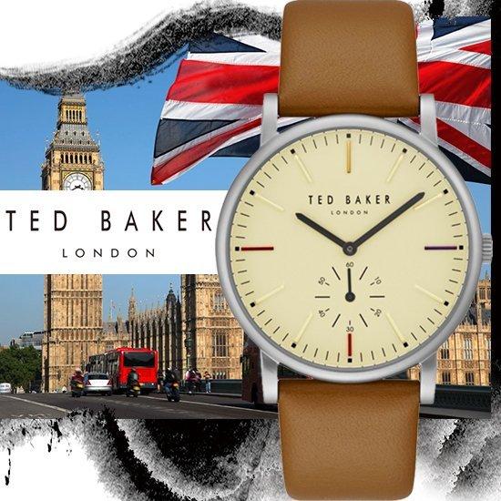 TEDBAKER英國設計師品牌英倫紳士獨立小秒針時尚腕錶TE50072002公司貨