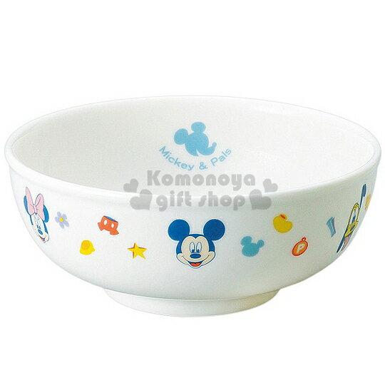 〔小禮堂〕迪士尼 米奇米妮 日製陶瓷碗公《白.多大臉.角色》日本金正陶瓷.朋友系列