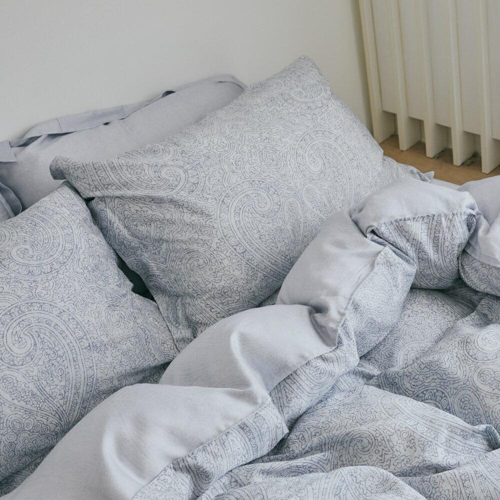 天絲 床包被套組(薄) 雙人【Blueming】100%萊賽爾纖維 TENCEL 透氣 翔仔居家