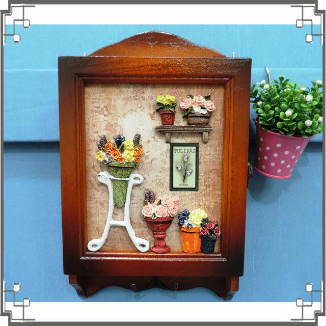 木製田園KEY BOX《WK2-4》鄉村鑰匙盒 木製立體圖鑰匙盒 壁櫃 收納櫃 送禮◤彩虹森林◥