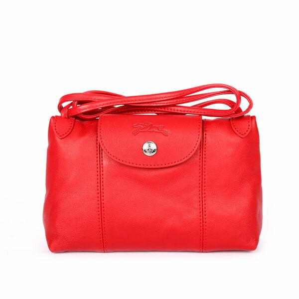 【LONGCHAMP】小羊皮斜背包(紅色)1061737045
