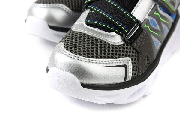 SKECHERS  LIGHTS 運動鞋 電燈鞋 童鞋 灰色 90512LSLBL no982 2