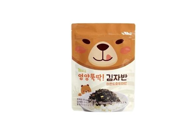 12m+【Evertto】愛兒多動物森林熊愛呷綜合堅果海苔酥(25g)幼兒兒童拌飯香鬆調味品
