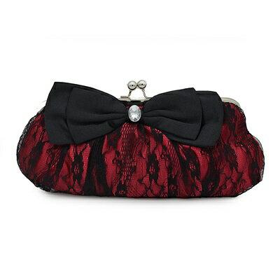 晚宴包蕾絲手拿包-時尚甜美優雅蝴蝶結女包包6色73su31【獨家進口】【米蘭精品】
