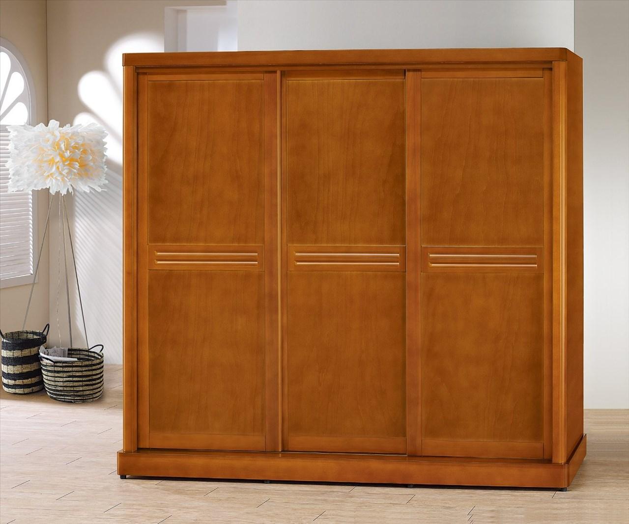 【石川家居】EF-5-1 泰豐樟木色7*7尺拉門衣櫥 (不含其他商品) 需搭配車趟