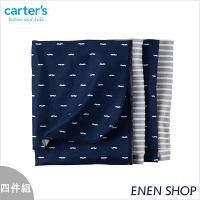 彌月寢具用品推薦到『Enen Shop』@Carters 俏鬍子/條紋款薄被四件組/包巾/浴巾 #45407 新生兒/彌月禮就在ENEN SHOP推薦彌月寢具用品