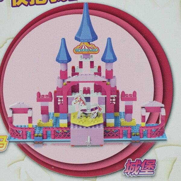 繽紛樂園城堡積木 WL2003 女孩拼裝積木別墅音樂盒(精裝版) / 一盒入 { 促1000 } ~佳 3