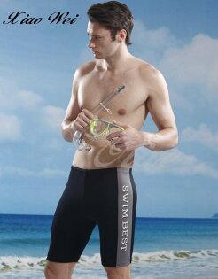 ☆小薇的店☆泳之美品牌【率性藍色側邊】大男七分泳褲促銷價250元NO.6506灰(M-2L)