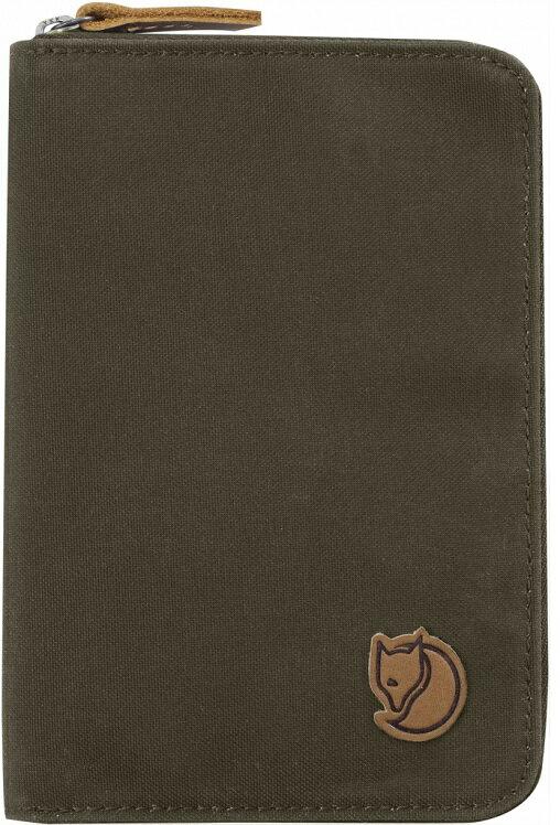 Fjallraven 瑞典北極狐 Passport Wallet 旅遊護照包/復古拉鍊皮夾/錢包 24220 633 深橄欖