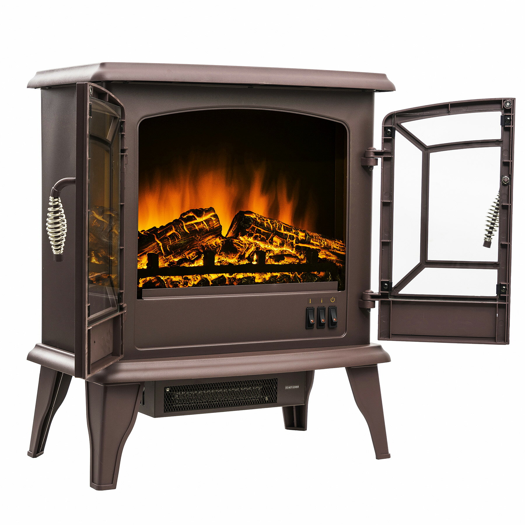 "AKDY 20"" Portable Freestanding Electric Fireplace Stove Heater 3"