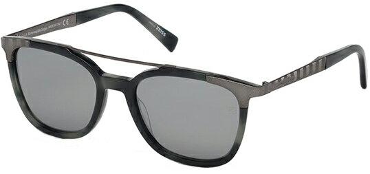 766dc325 Ermenegildo Zegna Men's Browline Pilot Sunglasses w/ Zeiss Lens EZ0073S