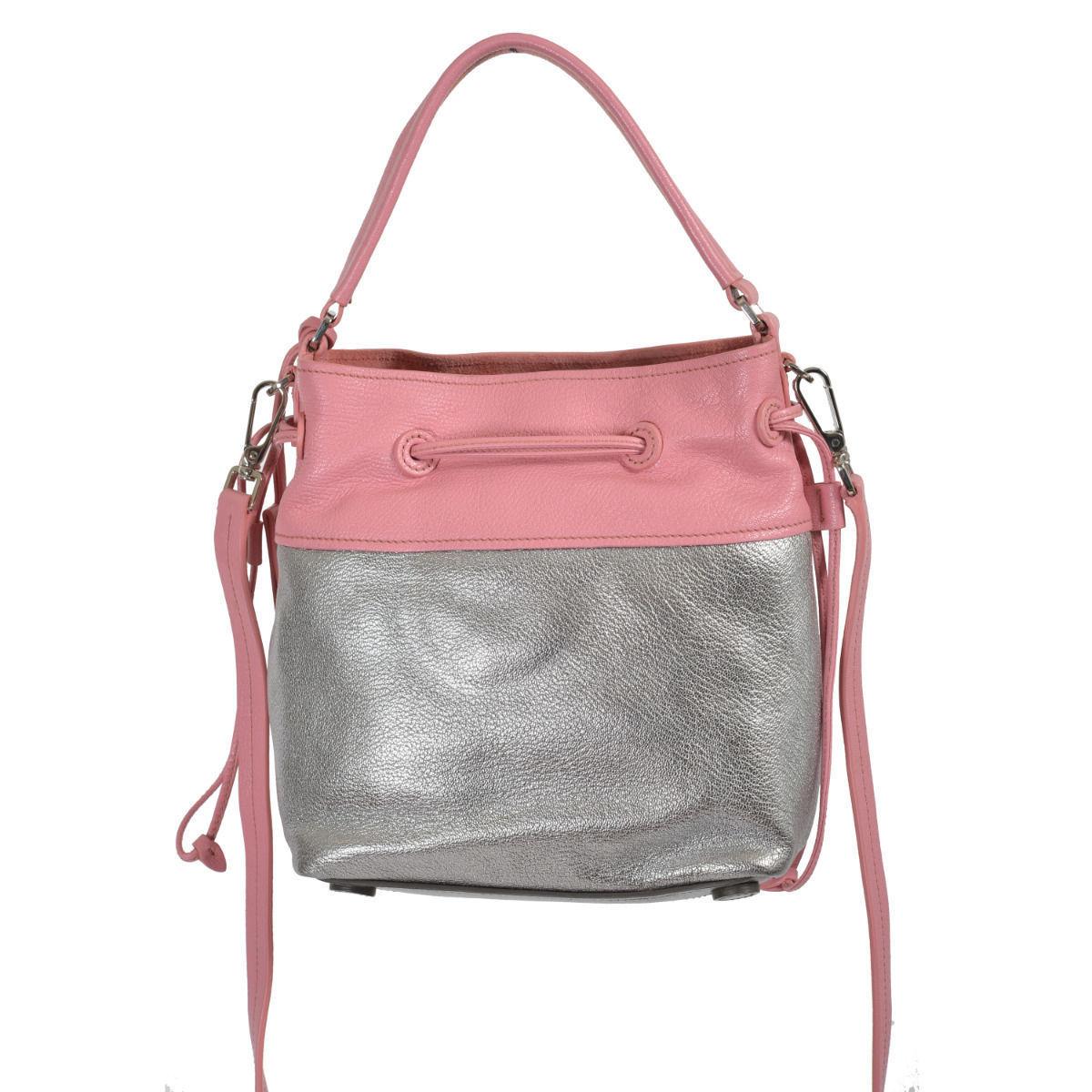 Miu Miu Women's Two Tone Leather Bucket Handbag Shoulder Bag 5