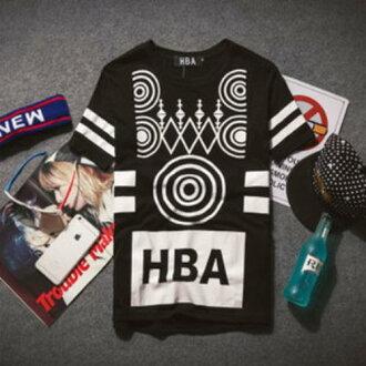 50%OFF【A04022C】權志龍HBA短袖t恤 男女歐美嘻哈街舞半袖t恤 GD EXO SHINEE bigbang BBOY