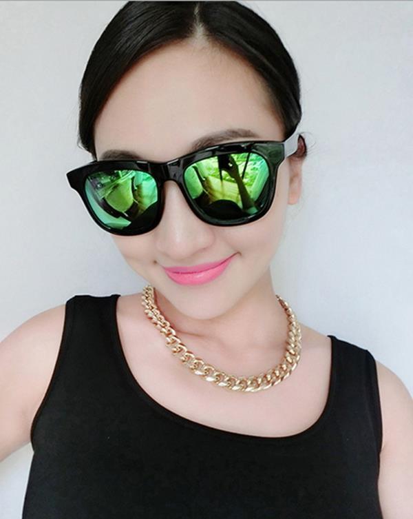 50^%OFF~J004195Gls~ 大框復古太陽眼鏡潮 圓臉墨鏡太陽眼鏡 附眼鏡盒 防