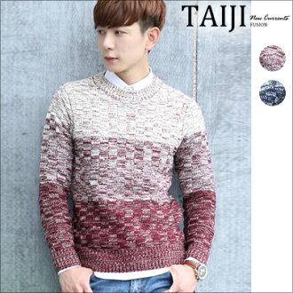 NTJTB03針織毛衣‧三層混織漸變圓領針織毛衣‧二色【NTJTB03】-TAIJI
