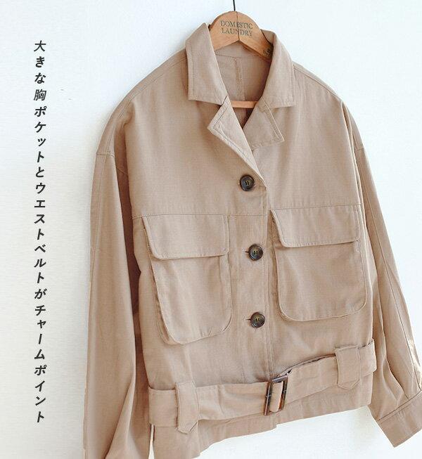 日本e-zakka / 短版休閒軍裝夾克 / 32620-1900092 / 日本必買 代購 / 日本樂天直送(4500) 6