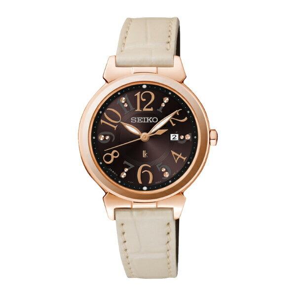 Seiko Lukia  V137-0BF0D(SUT188J1)典雅大方太陽能腕錶/巧克力色面32mm