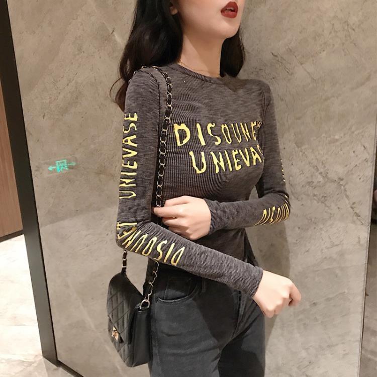 打底衫女秋冬2021年新款港味chic上衣內搭顯瘦百搭修身長袖T恤潮 凡卡時尚