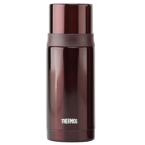 THERMOS膳魔師 不鏽鋼真空彈蓋保溫瓶保溫杯350ml-咖啡色【FEI-351】(MF0164K)