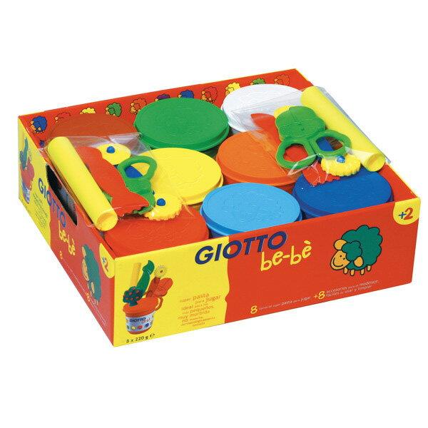 【義大利 GIOTTO】寶寶黏土派對(量販包)8色黏土(加贈工具組)