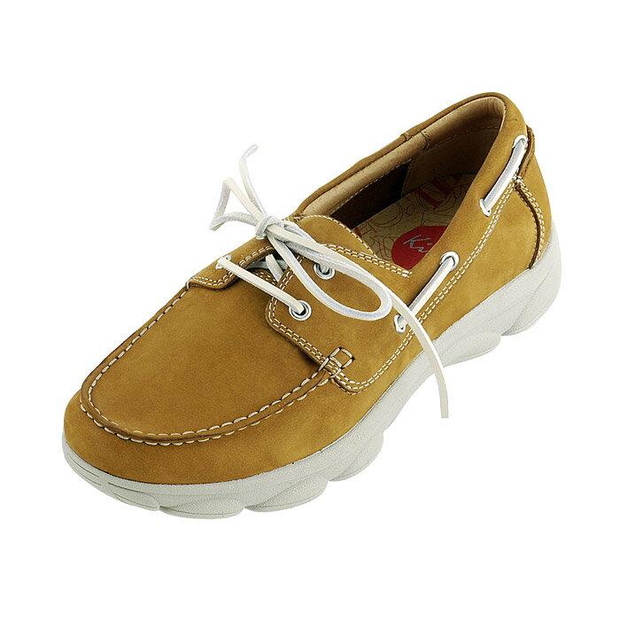 (陽光樂活)(特價)Kimo KIMO 德國手工氣墊鞋 男款 綁帶帆船款男休閒鞋 棕 K14SM008095 贈高級鞋油